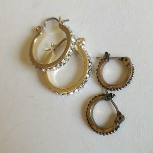 2 pair HOOP earrings